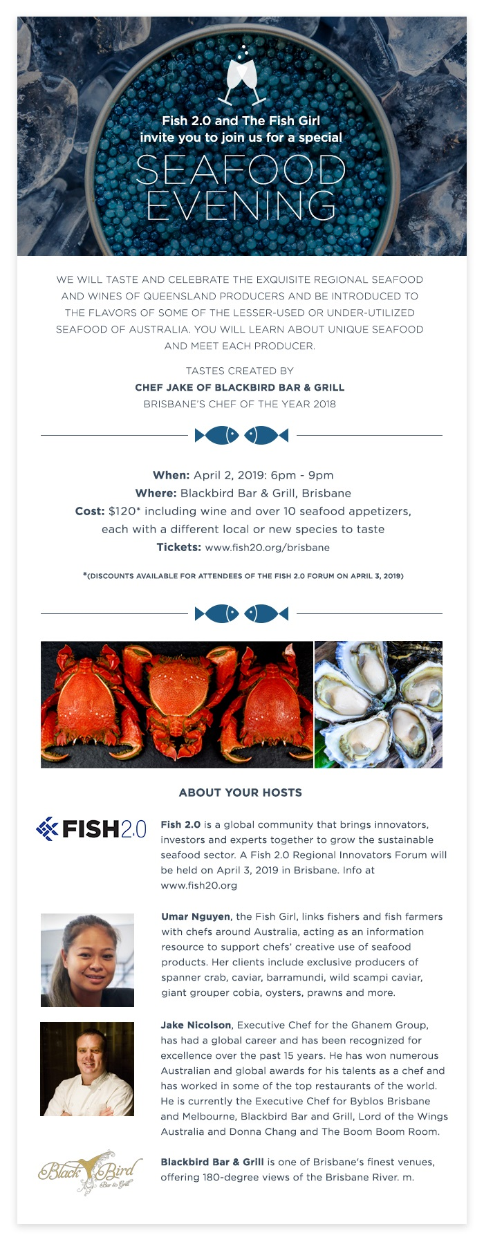 Details of the Seafood Dinner