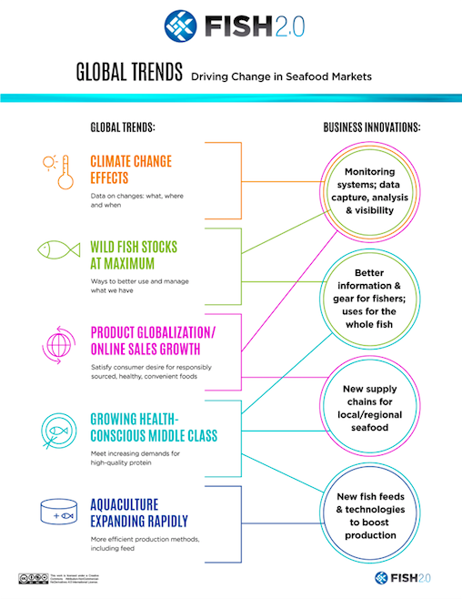 Global trends driving change in seafood markets - infographic